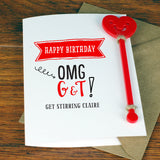 Gin & Tonic Cocktail Birthday Card With Cocktail Stirrer - Afewhometruths