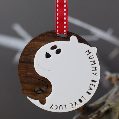 Yin Yang Mummy Bear Ornament - Afewhometruths