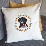 Pet Memorial Keepsake Cushion - Custom Illustration from your Dog Photo - Afewhometruths