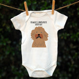 Personalised Babygrow Dog's Favourite Human, - Pre-drawn or Photo Upload - Afewhometruths