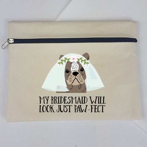 Personalised Bridesmaid Makeup Bag Gift - Choose your option! - Afewhometruths
