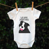 Personalised Smelly Dog Babygrow - Pre-drawn or Photo upload - Afewhometruths