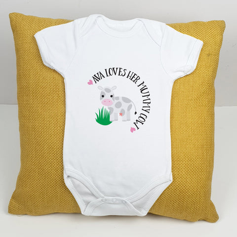 Personalised Mummy Cow Babygrow - Afewhometruths