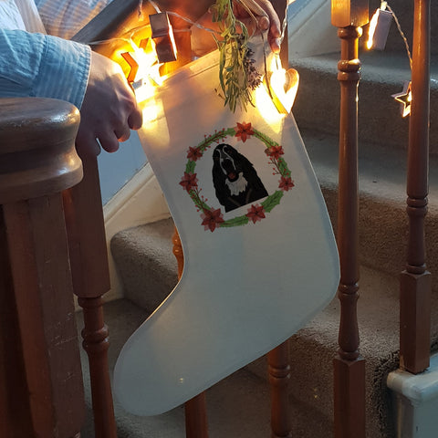 Personalised Dog Christmas Stocking SR - Afewhometruths