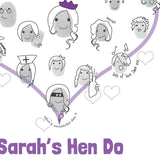 Hen Party Fingerprint Personalised Guestbook Activity - Afewhometruths