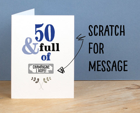 50th Birthday Card - Afewhometruths