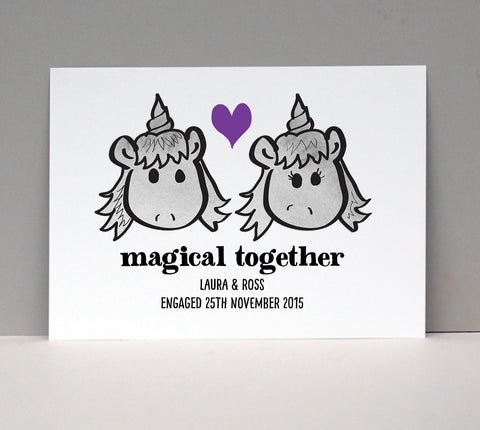 Magical Unicorn Love Card or Print - Afewhometruths