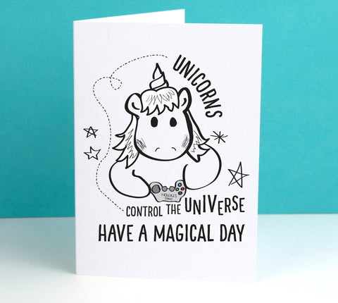 Unicorns control the Universe Card - Afewhometruths