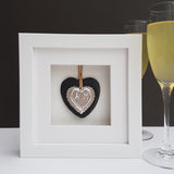 Silver Wedding Slate Heart - Afewhometruths