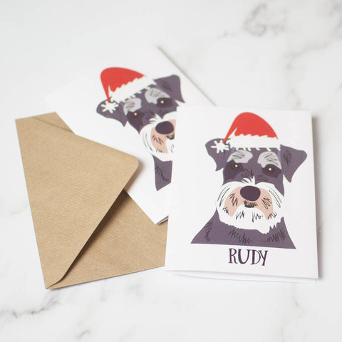 Personalised Dog Christmas Cards Set Of 10