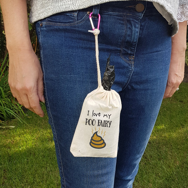 I Love My Poo Fairy Walkers Pouch and Clip - Afewhometruths