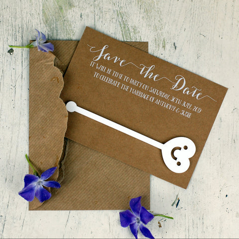 Rustic Minimal Wedding Save the Date Cards - Afewhometruths
