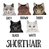 Personalised Cat Tea Towel Gift - Afewhometruths
