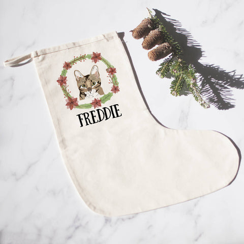 Personalised Cat Christmas Stocking - Afewhometruths