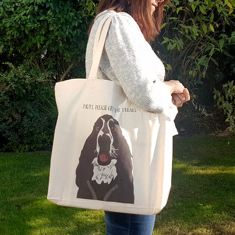 Personalised Dog Tote Shopper Bag - Afewhometruths