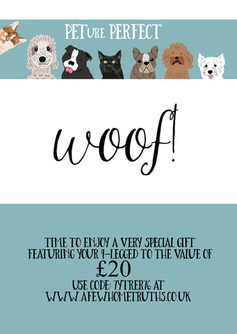 Gift Voucher - Pet Design - Afewhometruths