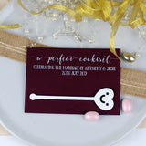Personalised Rustic Wedding Favours Cards - Afewhometruths