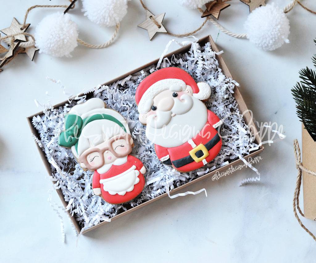 Mr. & Mrs. Claus Set - 2 Piece Set - Cutters