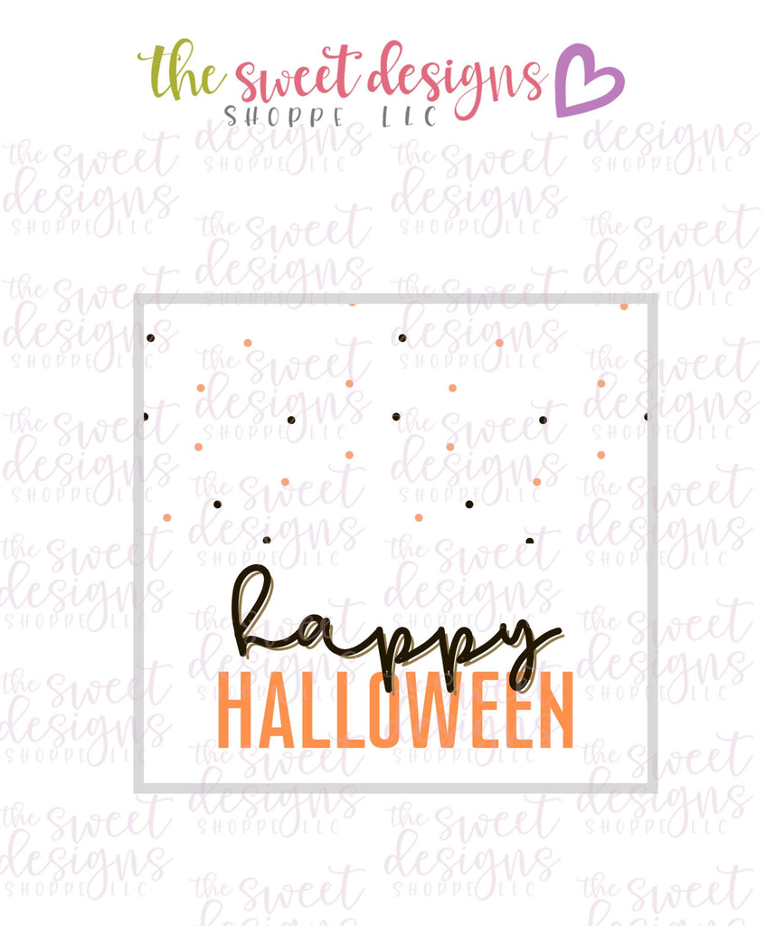 Happy Halloween #5  - Instant Download Topper 3""