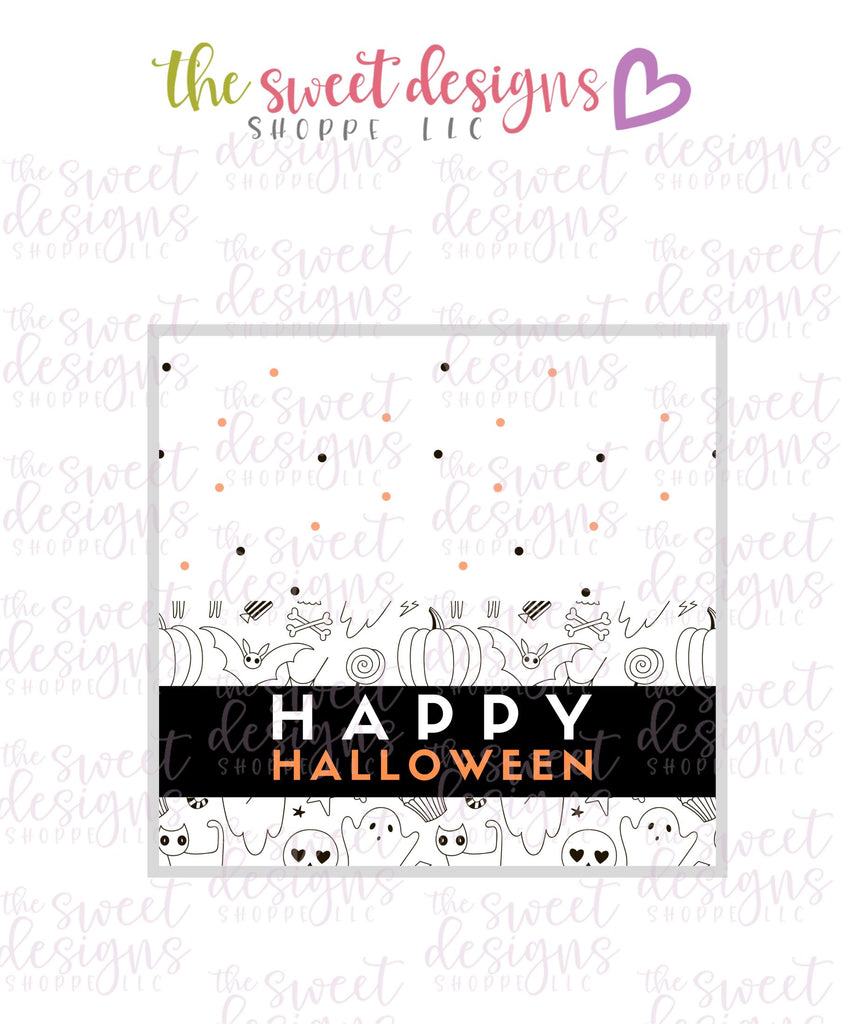 Happy Halloween #2  - Instant Download Topper 3""