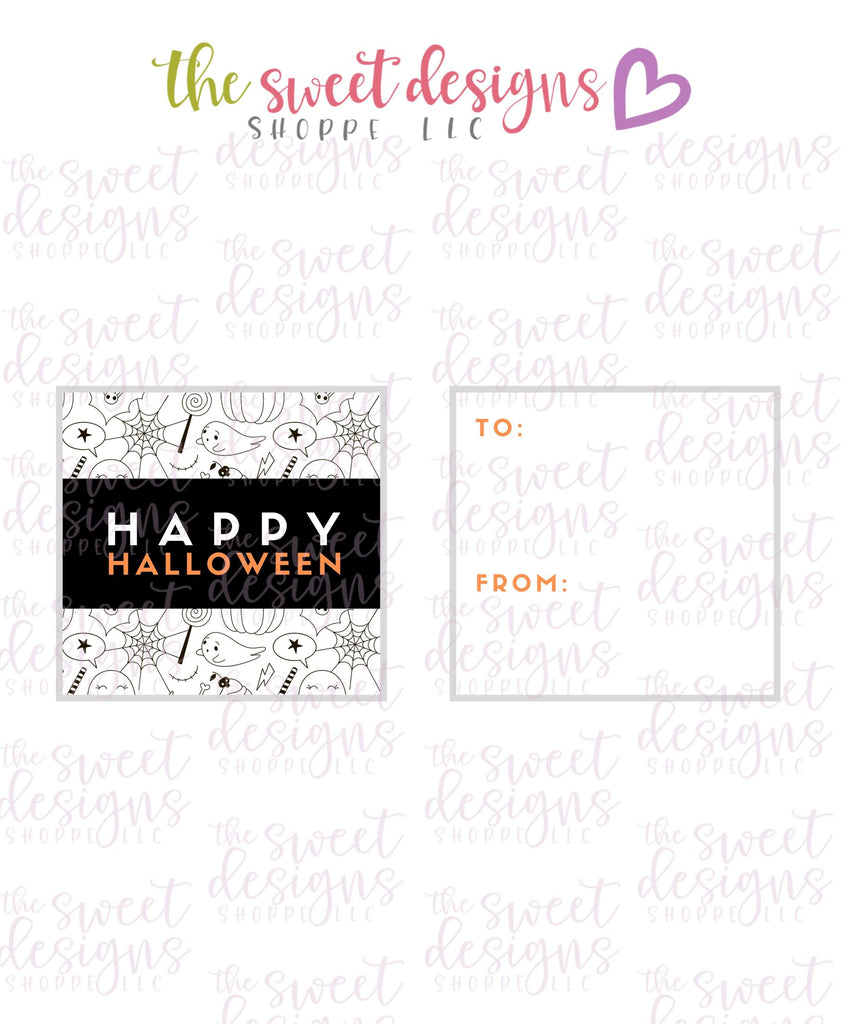 "Happy Halloween #2 - Instant Download 2"" x 2"" Tag"