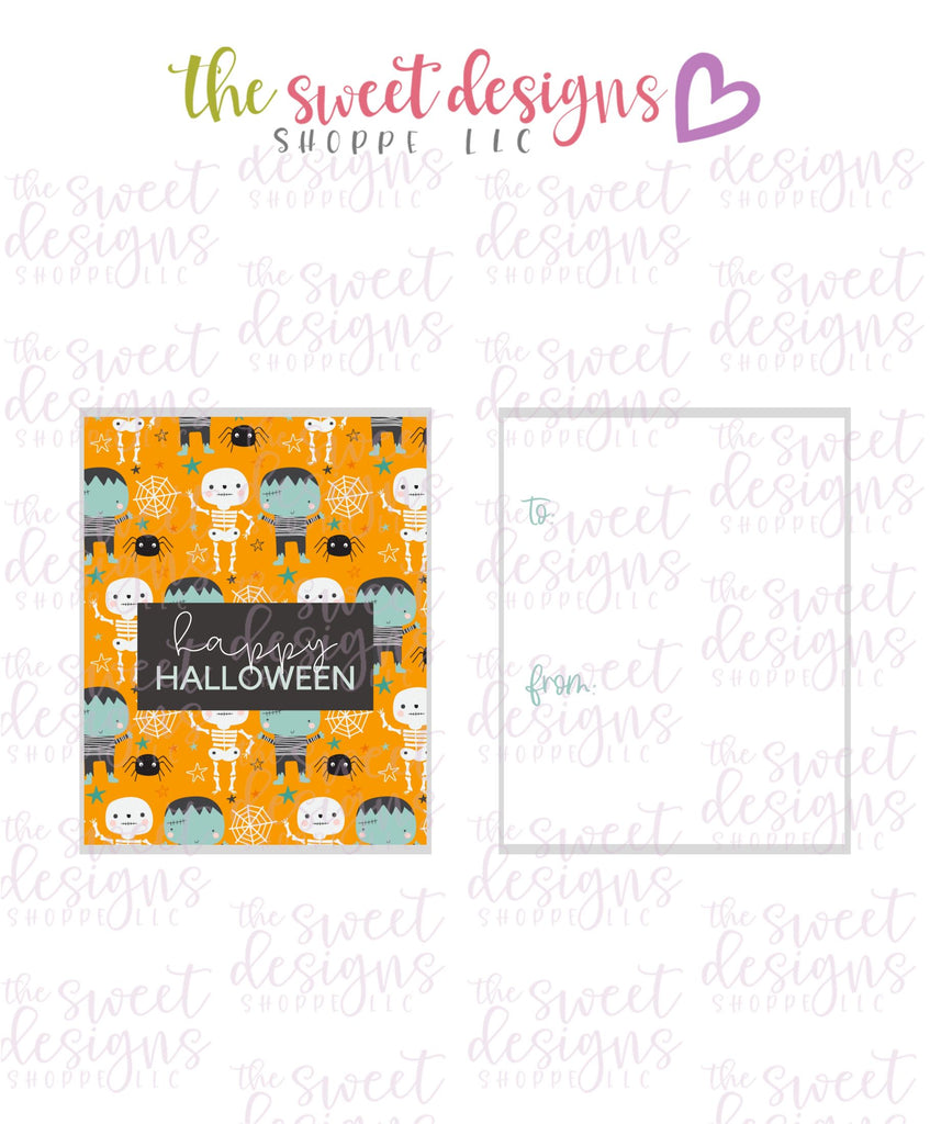 "Happy Halloween #4 - Instant Download 2"" x 2.5"" tag"