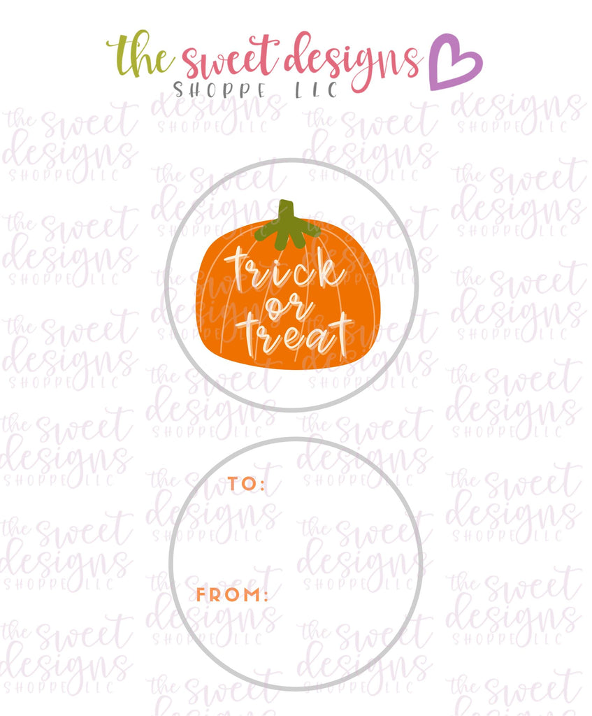 "Trick or Treat #2 -  Instant Download 2"" Round Tag"