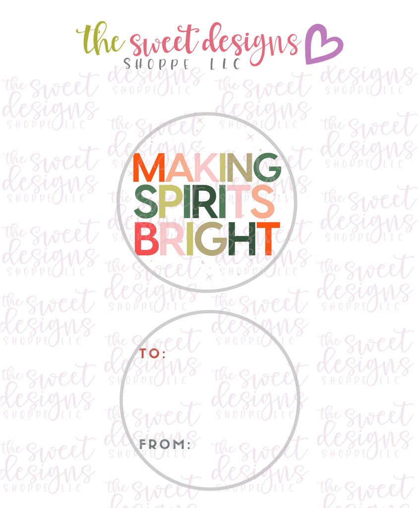 "MakingSpiritsBright #2 -  Instant Download 2"" Round Tag"