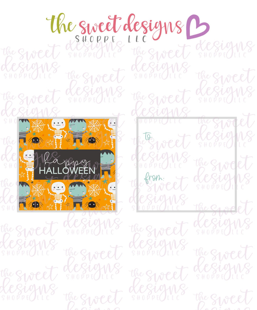"Happy Halloween #4 - Instant Download 2"" x 2"" Tag"