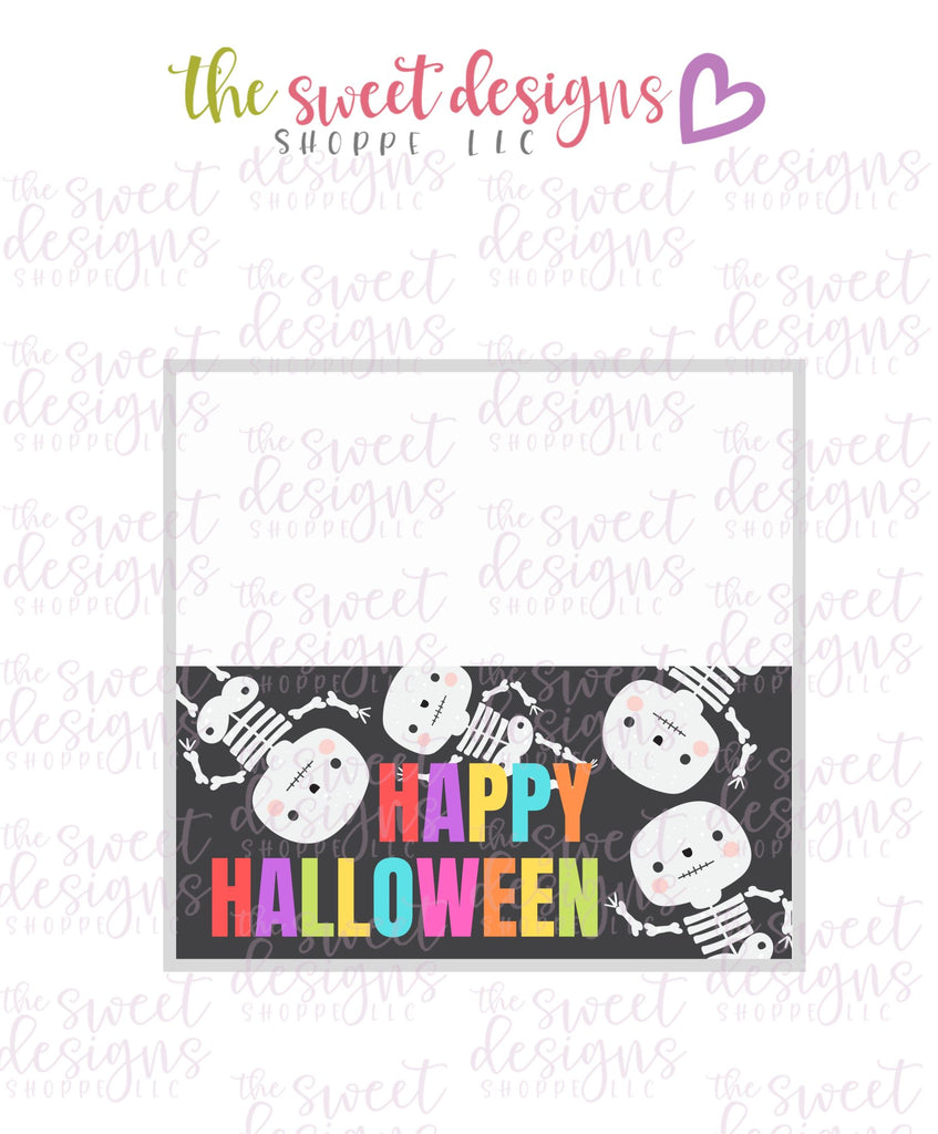 Happy Halloween #3  - Instant Download Topper 3""