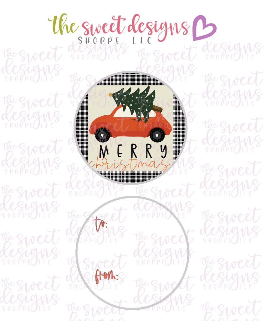 "MerryChristmas #8 -  Instant Download 2"" Round Tag"
