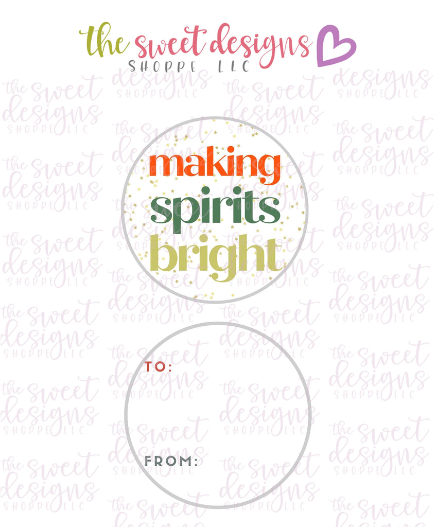 "MakingSpiritsBright #3 -  Instant Download 2"" Round Tag"