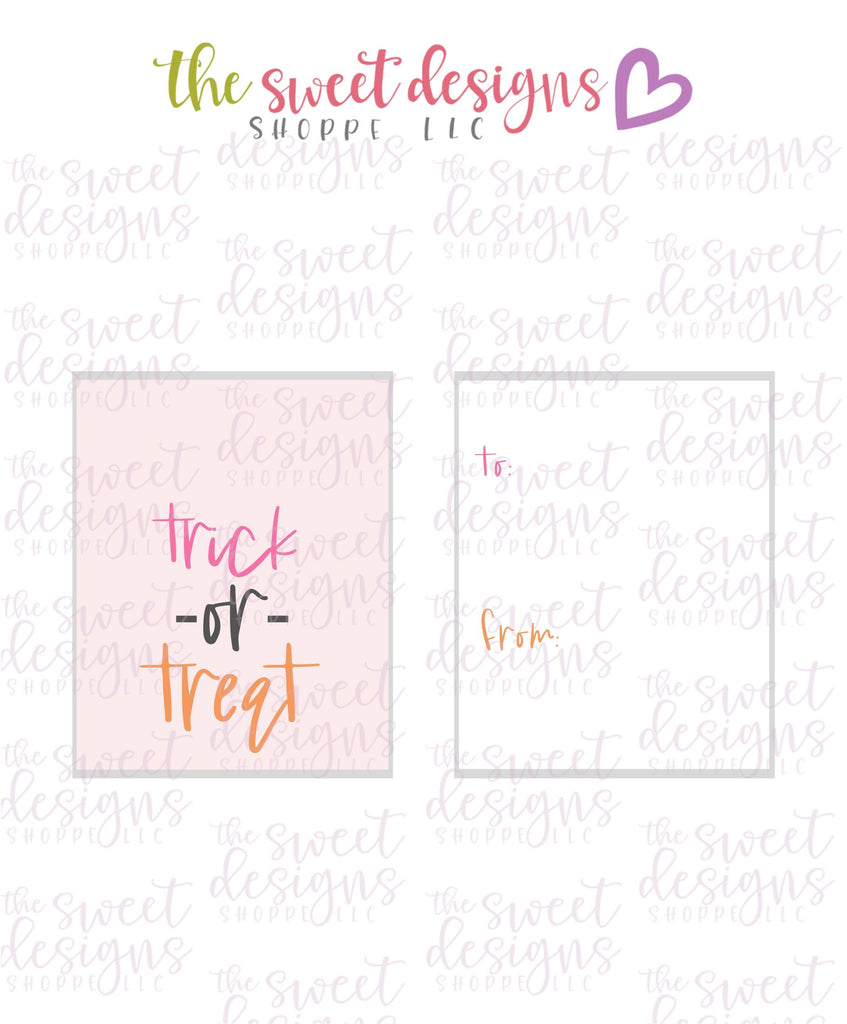 "Trick or Treat #3 - Instant Download 2"" x 2.5"" tag"