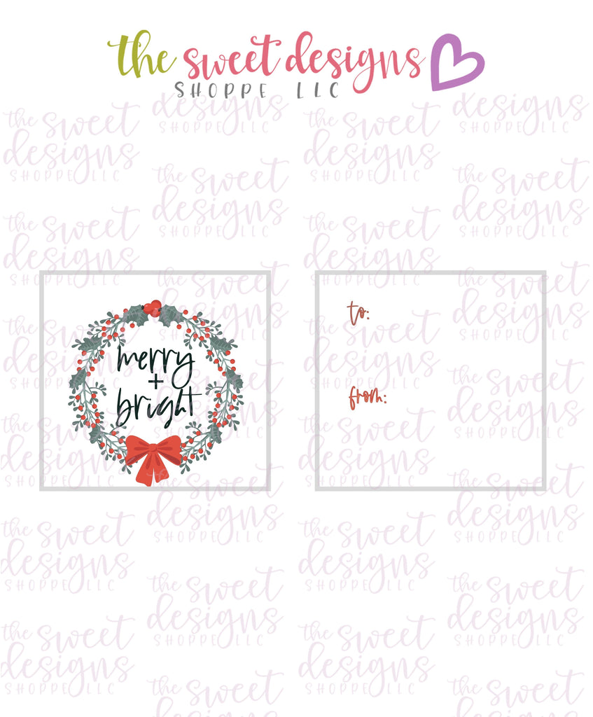 "Merry+Bright #3 - Instant Download 2"" x 2"" Tag"
