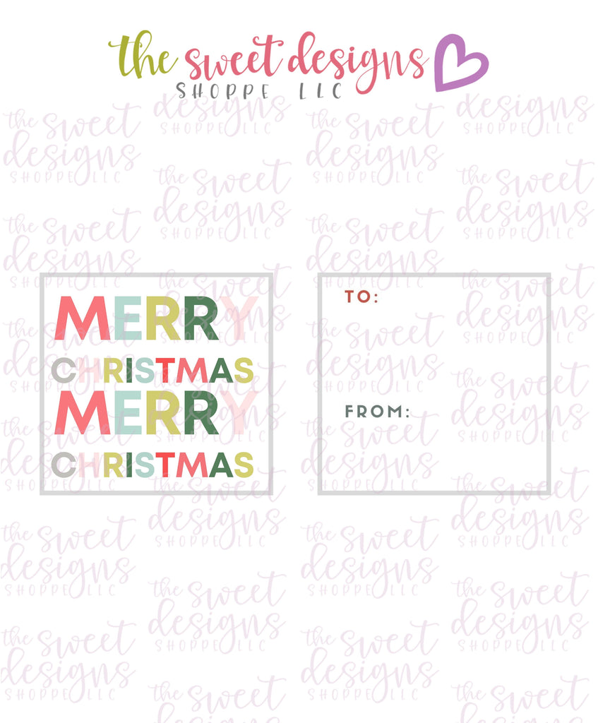 "MerryChristmas #5 - Instant Download 2"" x 2"" Tag"