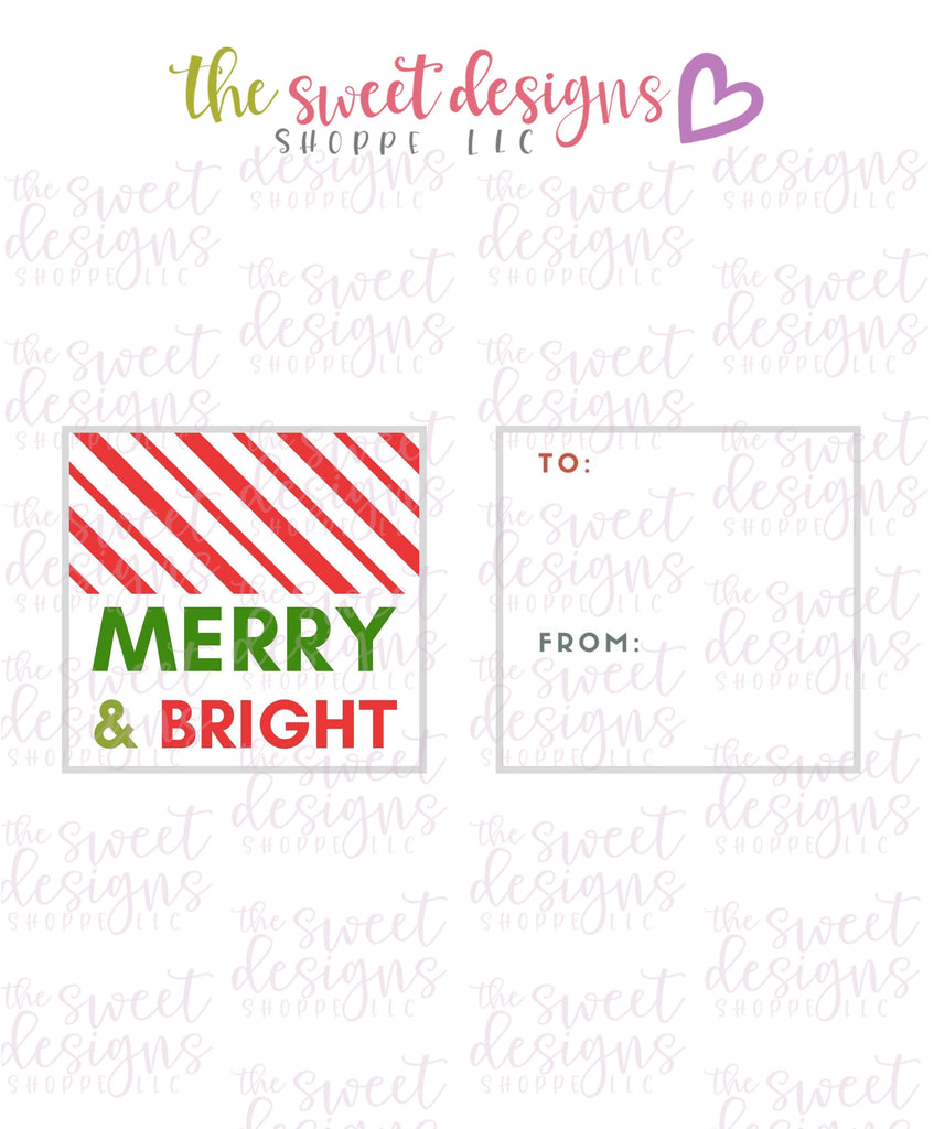 "Merry+Bright #6 - Instant Download 2"" x 2"" Tag"