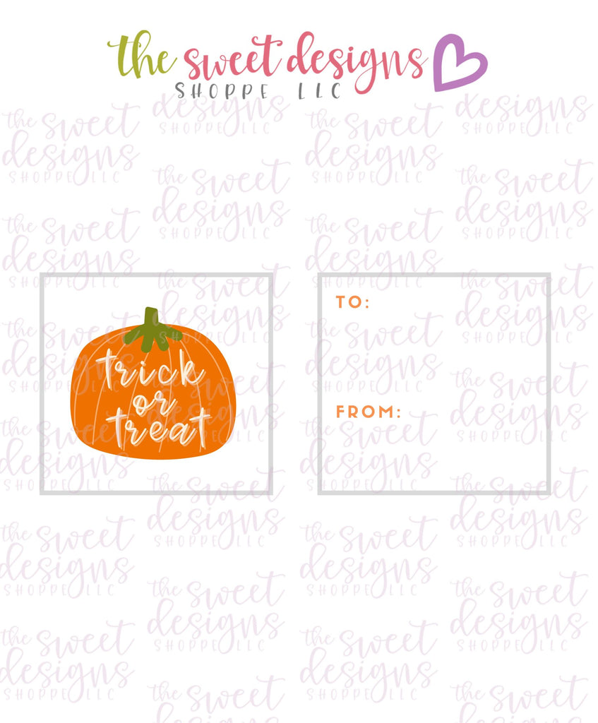 "Trick or Treat #2 - Instant Download 2"" x 2"" Tag"