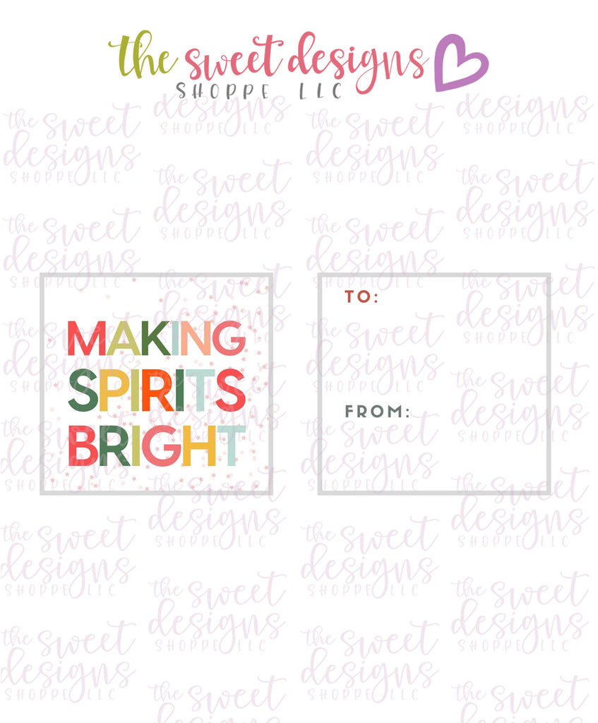 "MakingSpiritsBright #1 - Instant Download 2"" x 2"" Tag"