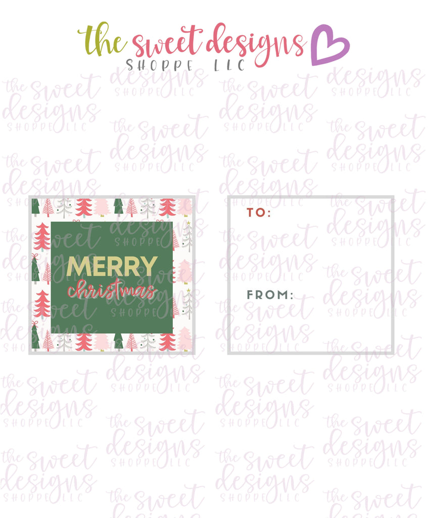 "MerryChristmas #6 - Instant Download 2"" x 2"" Tag"