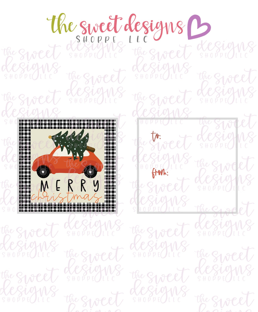 "MerryChristmas #8 - Instant Download 2"" x 2"" Tag"