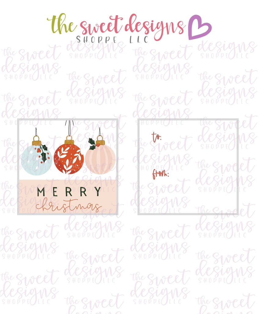 "MerryChristmas #9 - Instant Download 2"" x 2"" Tag"