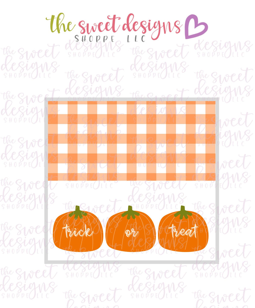 Trick or Treat #2  - Instant Download Topper 3""