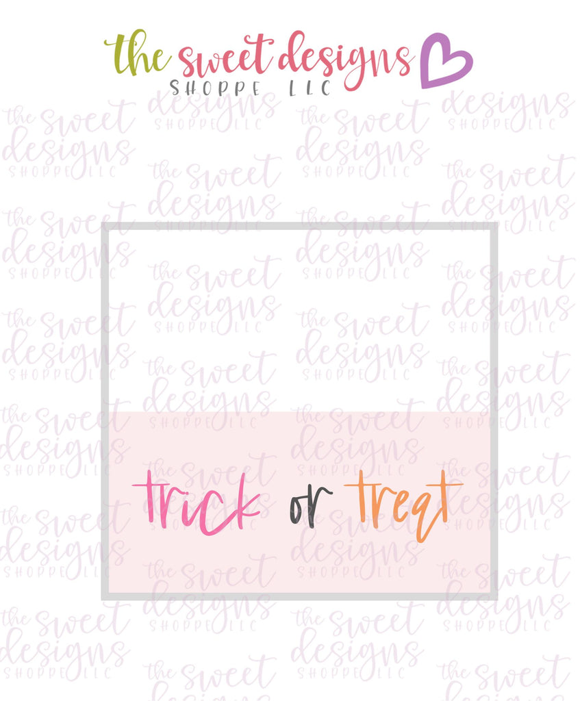 Trick or Treat #3  - Instant Download Topper 3""