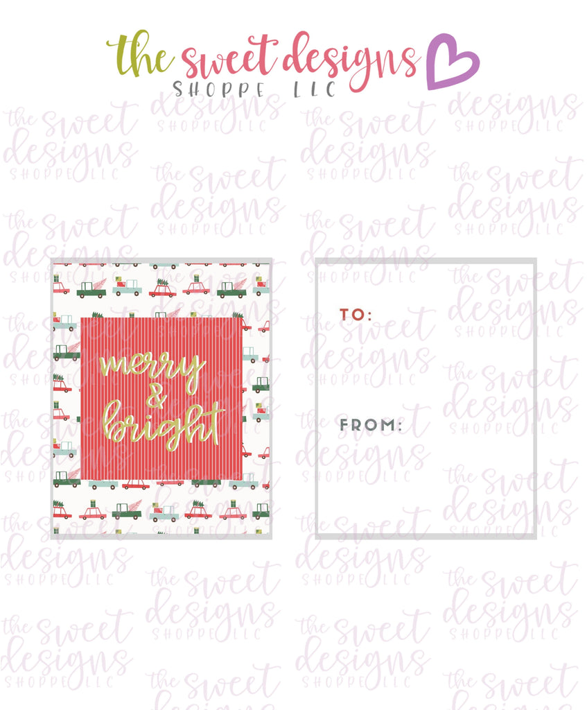"Merry+Bright #4 - Instant Download 2"" x 2.5"" tag"