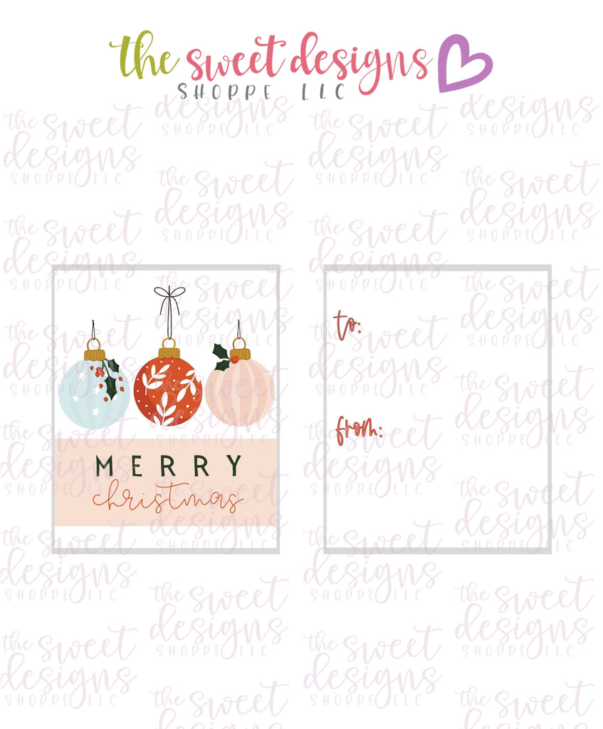 "MerryChristmas #9 - Instant Download 2"" x 2.5"" tag"