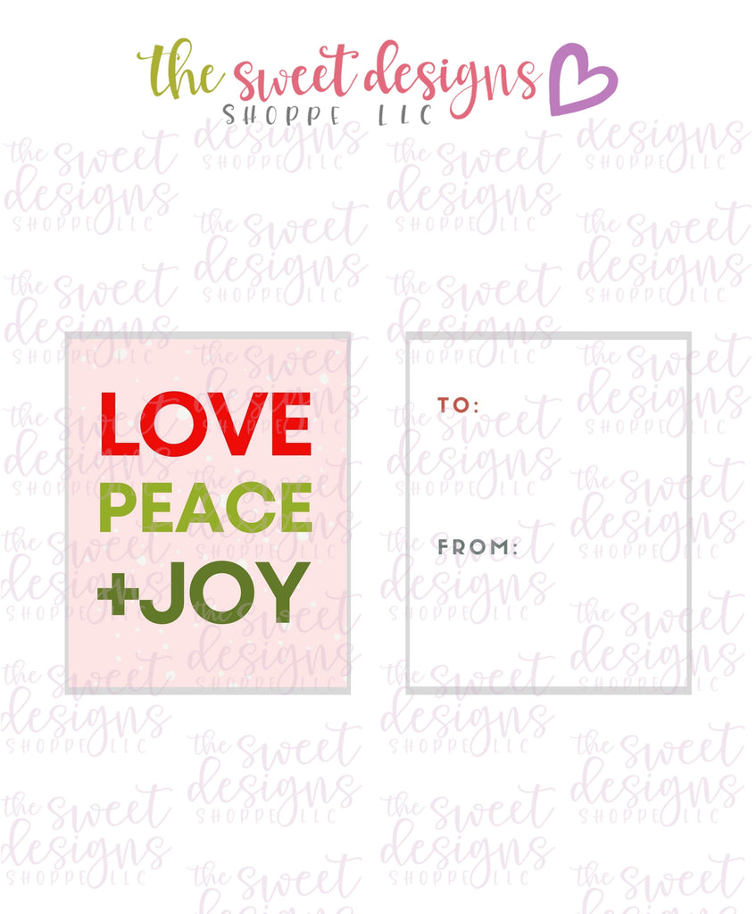 "LovePeace+Joy #1 - Instant Download 2"" x 2.5"" tag"