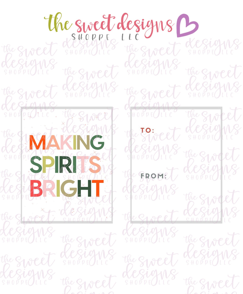 "MakingSpiritsBright #2 - Instant Download 2"" x 2.5"" tag"