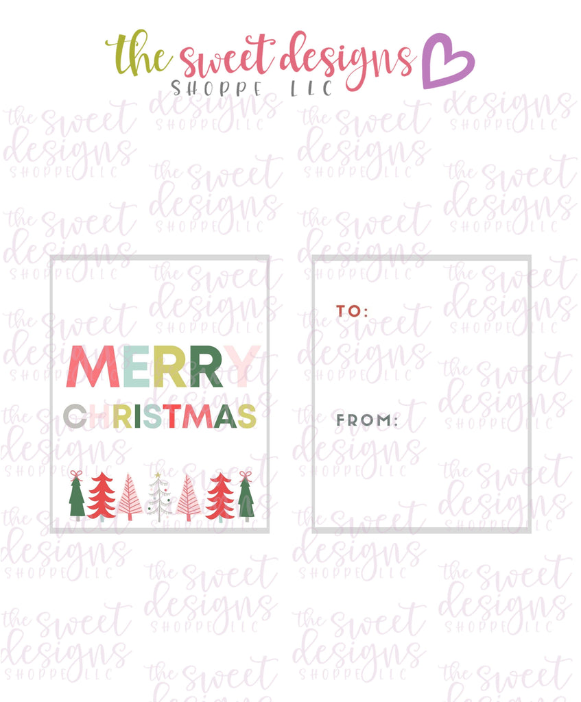 "MerryChristmas #4 - Instant Download 2"" x 2.5"" tag"