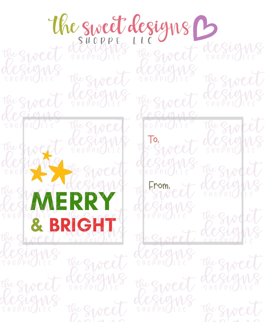 "Merry+Bright #5 - Instant Download 2"" x 2.5"" tag"