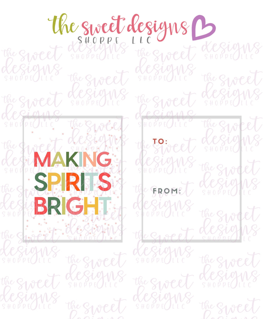 "MakingSpiritsBright #1 - Instant Download 2"" x 2.5"" tag"